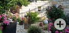 Sichtschutzmauer Steingarten